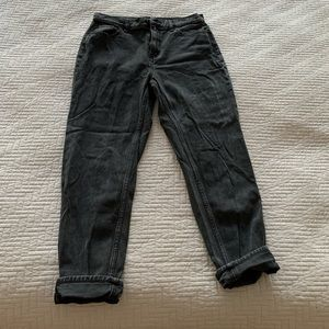 BDG Distressed Mom High-Rise Jean, size 28W.